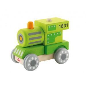 Jeu emboîtement train sévi - jouets en bois  2