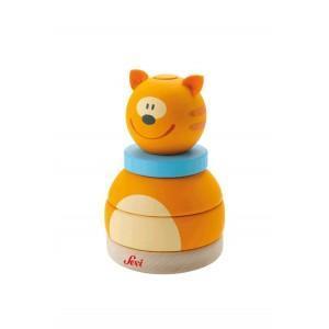 Jouet sevi 1831 empilable chat  - jouets en bois
