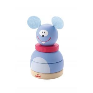Jouet empilable souris sévi - jouets en bois