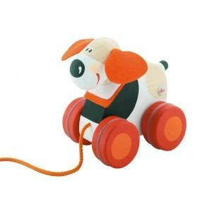 Mini jouet à traîner chien sevi 1831 - jouets en bois