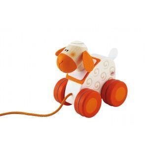 Mini jouet à traîner mouton sévi - jouets en bois 2