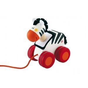 Mini jouet à traîner zèbre sevi 1831 - jouets en bois
