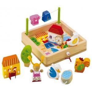 Jouet puzzle ferme sevi 1831 - jouets en bois