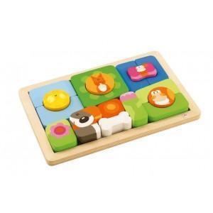 Play puzzle jour - nuit sévi - jouets en bois