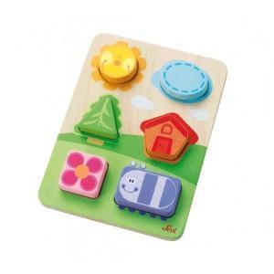 Puzzle paysage de formes sévi - jouets en bois