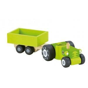 Jouet de la ferme tracteur avec remorque sevi - jouets en bois