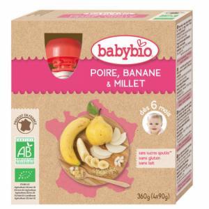 Gourdes de fruits Babybio Pomme Abricot Banane