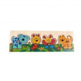 Puzzle en bois Animaux colorés