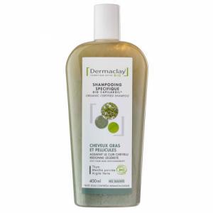Shampoing Bio Capilargil Cheveux gras - Pellicules Argile verte 400ml