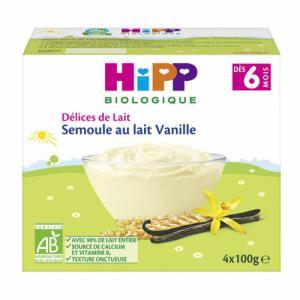 Semoule au lait Hipp Biscuitée (dès 6 mois)