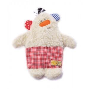 Doudou mini bouillotte ours rouge olli olbot - doudou bio