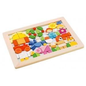 Puzzle magnétique ferme sevi 1831 - jouets en bois