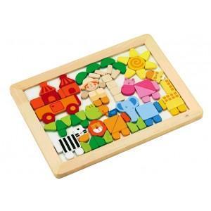 Puzzle magnétique savane sevi 1831 - jouets en bois
