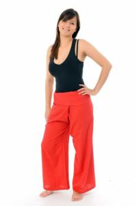 Pantalon pecheur Thai rouge