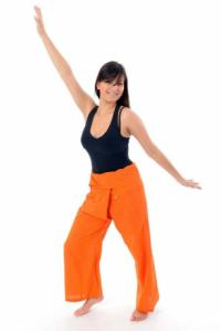 Pantalon Thai Fisherman orange