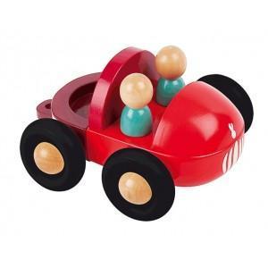 Camion en bois pick up magnet janod - jouets en bois  2