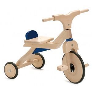 Tricycle jasper toys bleu - jouets en bois