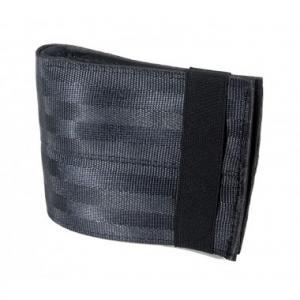 Portefeuille porte-cartes Aamir gris foncé en ceintures de sécurité recyclée et chambre à air recyclée