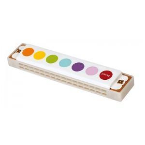 Instrument de musique harmonica confetti janod - jouets en bois