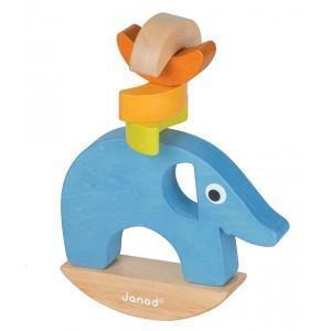 Jeu d'équilibre banana jungle elphy janod - jouets en bois 2