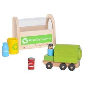 Jouet camion - station de recyclage everearth - jouets bois