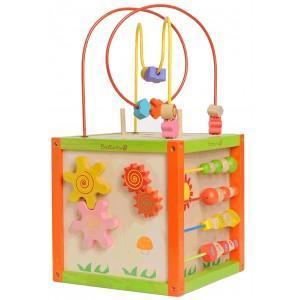 Jouet everearth cube d'activités garden - jouets bois