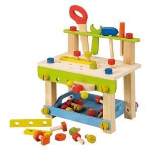 Jouet everearth  mini établi bricolage - jouets bio en bois