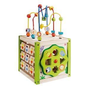 Jouet Mon premier cube d'activités EverEarth - Jouets bois
