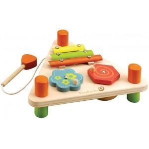 Jouet set musical triangle 2 faces everearth - jouets bois