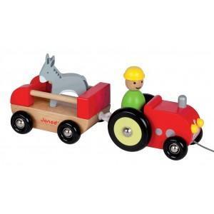 Jouet tracteur multi animo janod - jouets en bois