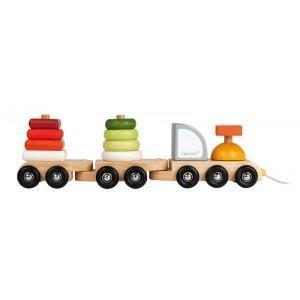 Jouet train multi color  janod - jouets en bois 2