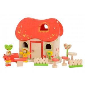 Everearth maison de poupée conte de fées  - jouets bois