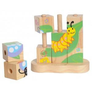 Puzzle de blocs amazon everearth - jouets en bois 2