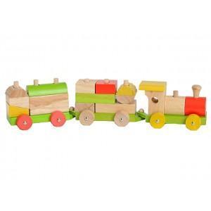 Train de blocs everearth - jouets bois 2