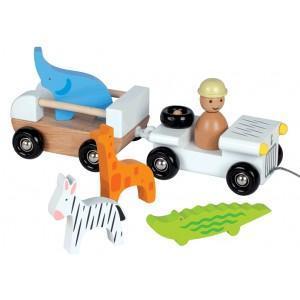 Voiture jeep multi zoo janod - jouets en bois 2