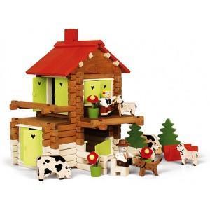 Jouet chalet de heidi (175pcs) jeujura - jouets ecologiques
