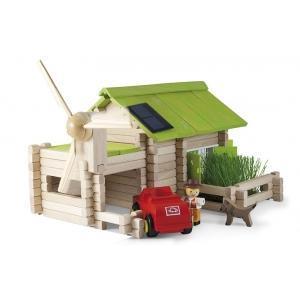 Jeujura jouet chalet écologique (145pcs) - jouets bois