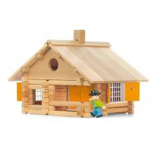 Jouet jeujura maison en rondins (135pcs)  - jouets ecologiques
