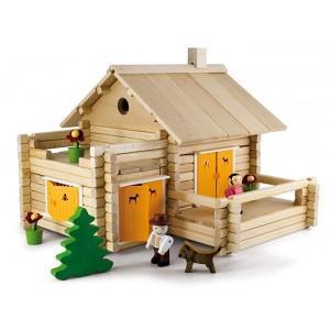 Jeujura jouet maison en rondins (175pcs) - jouets du jura