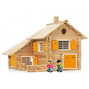 Jouet jeujura maison en rondins (240pcs) - jouets ecologiques