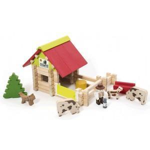 Jouet petite ferme avec animaux (70pcs) jeujura -jouets ecologiques