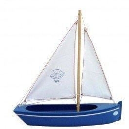 Grande Barque en bois bleue