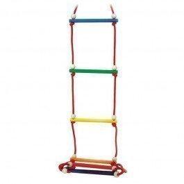 Echelle de cordes en bois colorée