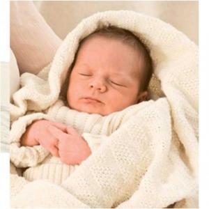 Couverture bébé 100% laine nature DISANA