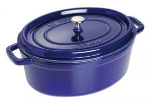 Cocotte ovale STAUB 33 cm bleu intense