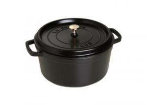 Cocotte ronde STAUB diam 28 cm noir