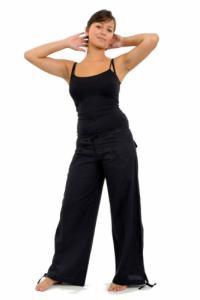 Pantalon hybride homme femme noir uni