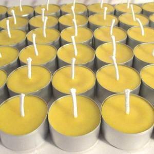 16 bougies chauffe plats en cire d'abeille naturelle