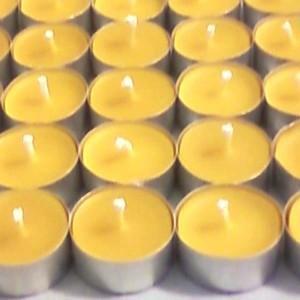 8 bougies chauffe-plats en cire d'abeille naturelle