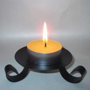 4 bougies naturelles en cire d'abeille chauffe plats GEANTS durée  12h!